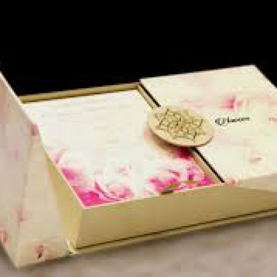Floral Customized Sweet Box | Indian wedding cards, Indian wedding card, wedding cards, wedding invitations, Indian wedding invitations