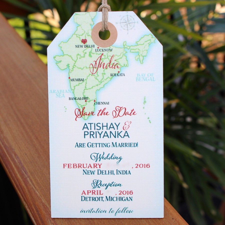 Traditional Luggage tag | Indian wedding cards, Indian wedding card, wedding cards, wedding invitations, Indian wedding invitations
