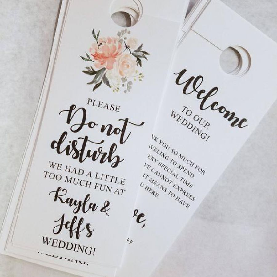 Peach Do not disturb wedding door hanger | Indian wedding cards, Indian wedding card, wedding cards, wedding invitations, Indian wedding invitations