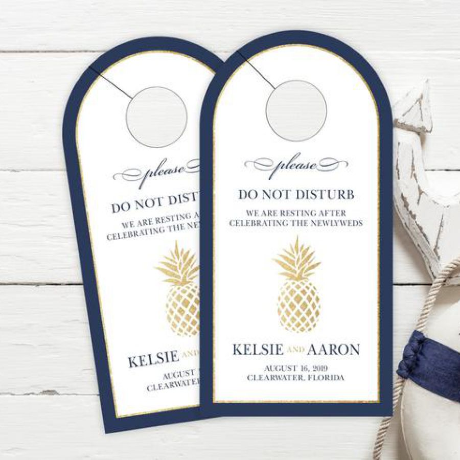 Rounded Wedding Door Hangers, Wedding Do Not Disturb Sign, Tropical Wedding Hotel  | Indian wedding cards, Indian wedding card, wedding cards, wedding invitations, Indian wedding invitations