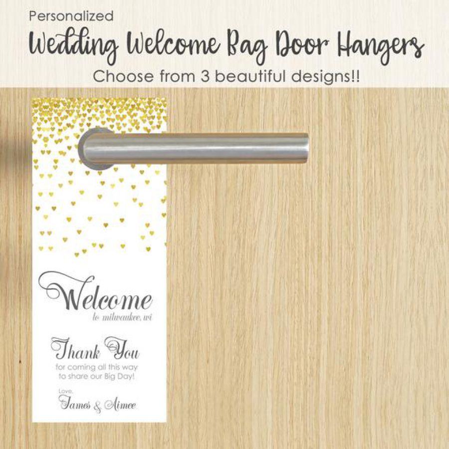 Gold Wedding Decor Door Hangers | Indian wedding cards, Indian wedding card, wedding cards, wedding invitations, Indian wedding invitations