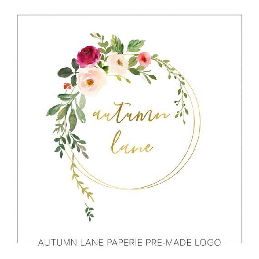 Premade Logo Design, Watermark Logo, Website Logo, Business Logo, Floral Logo, Watercolor Logo, Flor | Indian wedding cards, Indian wedding card, wedding cards, wedding invitations, Indian wedding invitations
