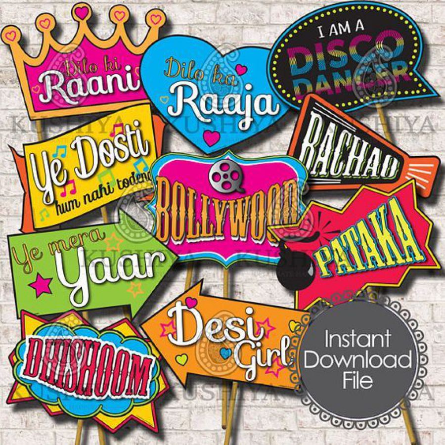 Indian Party Props For Wedding Party Decoration, Bridal Shower Photo Booth Props for Wedding Shower  | Indian wedding cards, Indian wedding card, wedding cards, wedding invitations, Indian wedding invitations