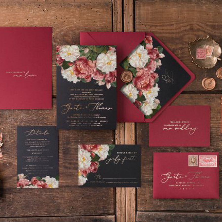 RED VELVET WEDDING INVITATIONS Suite, Wedding invites, Wedding invitation set, Wedding invitation ca | Indian wedding cards, Indian wedding card, wedding cards, wedding invitations, Indian wedding invitations