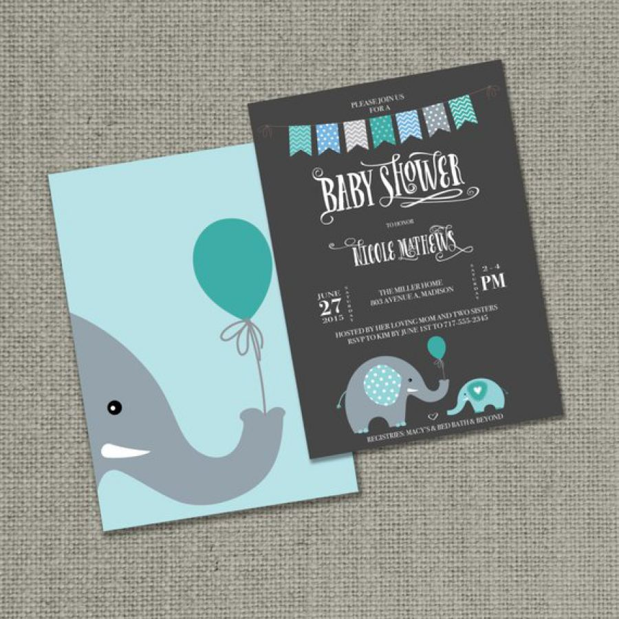 Printable Baby Shower Invitation Card |Elephants Balloon Design | | Indian wedding cards, Indian wedding card, wedding cards, wedding invitations, Indian wedding invitations