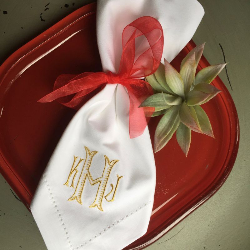 Customized Wedding Napkins
