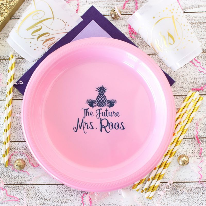 personalized plastic plates