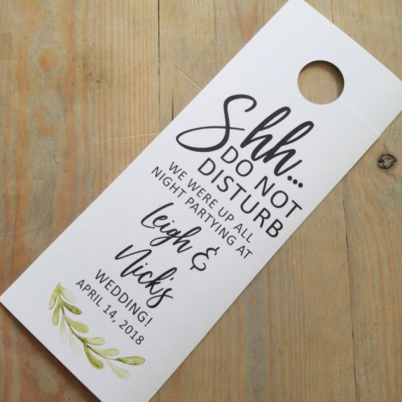 Greenery Do not disturb wedding door hangers, door hangers wedding, hotel door hangers, wedding sign