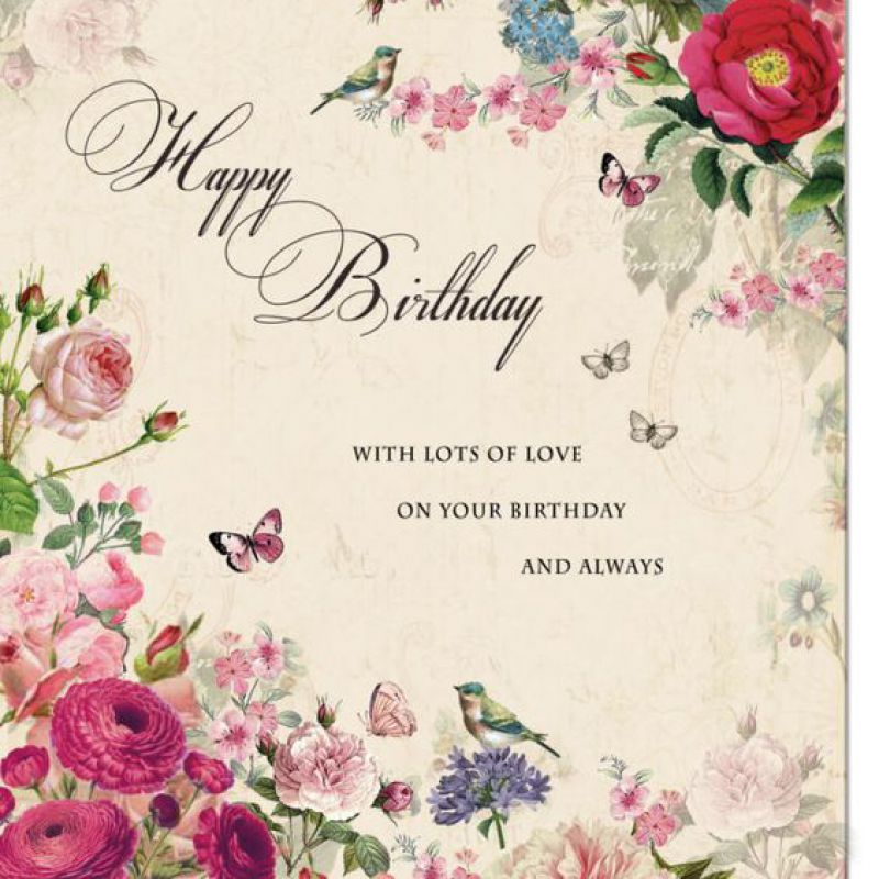 Floral Birthday Wishing Card