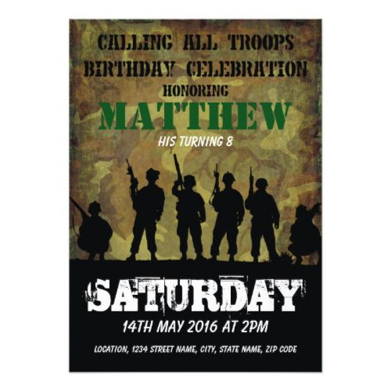 Jungle Theme birthday invitation Card